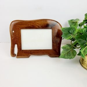 Wooden elephant picture frame
